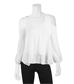 A. Byer Cold-Shoulder Blouse