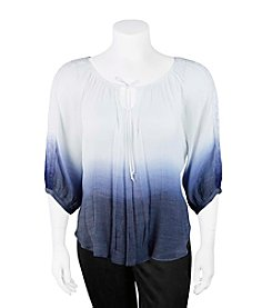 A. Byer Plus Size Dip-Dye Princess Top