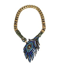 Betsey Johnson® Peacock Statement Collar Necklace