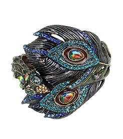 Betsey Johnson® Peacock Bangle Bracelet