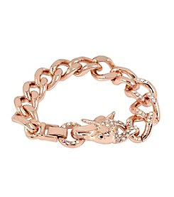 Betsey Johnson® Pave Pegasus Link Bracelet