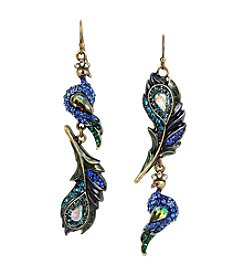 Betsey Johnson® Peacock Mismatch Drop Earrings