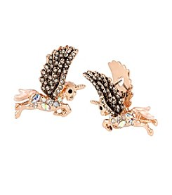 Betsey Johnson® Pave Pegasus Drop Earrings