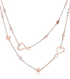 GUESS® Two Row Heart Necklace