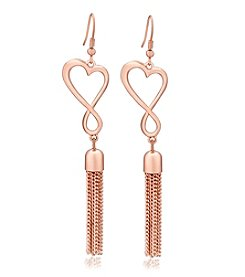 GUESS Heart Shaped Tassel Earring