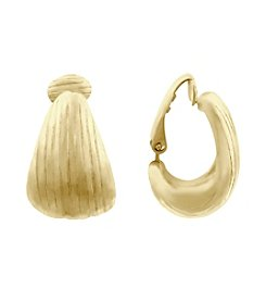 Gloria Vanderbilt® EZ Comfort Clip Hoop Earrings