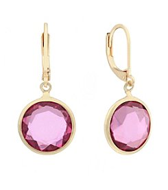 Gloria Vanderbilt Round Drop Earrings