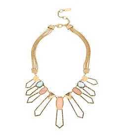 Kenneth Cole® Pavé Shell Geometric Open Frontal Statement Necklace