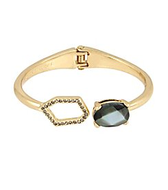 Kenneth Cole® Pave Geometric Link & Stone Hinged Bangle Bracelet