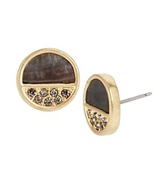 Kenneth Cole® Pave Shell Round Stud Earrings