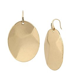 Kenneth Cole® Pave Geometric Oval Disc Drop Earrings