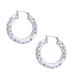 Nine West Vintage America Collection® Hammered Hoop Earrings