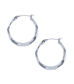 Nine West Vintage America Collection® Twisted Hoop Earrings