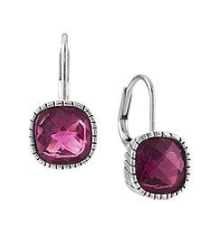 The Sak® Rose Cushion Cut Stone Leverback Earrings