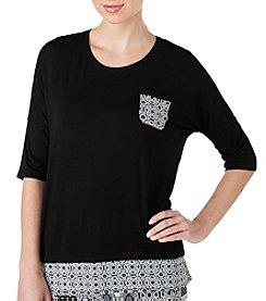 Ellen Tracy® Printed Pocket Pajama Top