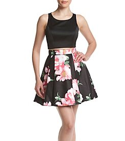 My Michelle® Floral Two-Piece Party Dress