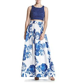 My Michelle® Floral Two-Piece Gown