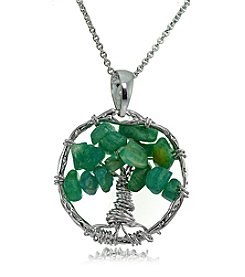 Designs by FMC Silver-Plated Tree of Life Pendant Necklace