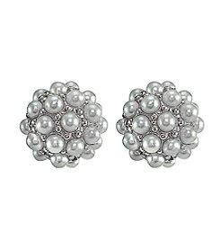 Designs by FMC Sterling Silver Pearl Cluster Stud Earrings