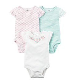 Carter's® Baby Girls' 3-Pack Floral Bodysuits