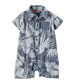 Carter's® Baby Boys' Palm Printed Chambray Romper