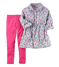 Carter's® Baby Girls' 2-Piece Floral Top And Leggings Set