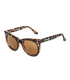 Steve Madden Tortoise Round Squared Frame Sunglasses
