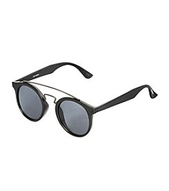 Steve Madden Round With Brow Bar Sunglasses