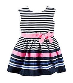 Carter's® Girls' 2T-8 Striped Sateen Dress