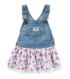 OshKosh B'Gosh® Girls' 2T-4T Denim Floral Ruffle Jumper