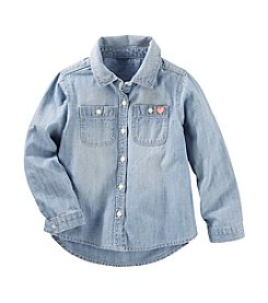 OshKosh B'Gosh® Girls' 2T-8 Denim Long Sleeve Shirt