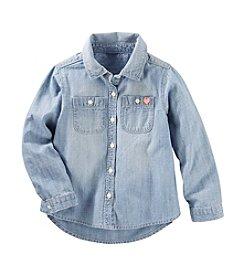 OshKosh B'Gosh® Girls' 2T-8 Denim Long Sleeve Shirt