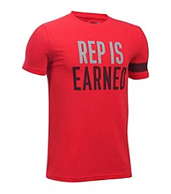 Under Armour® Boys' 8-20 Rep Is Earned Short Sleeve Tee