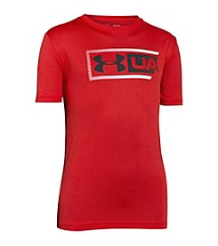 Under Armour® Boys' 8-20 Dual Logo Short Sleeve Top