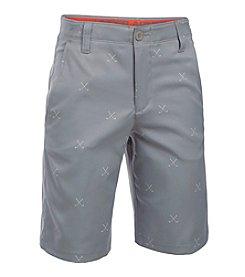 Under Armour® Boys' 8-20 Match Play Printed Golf Shorts