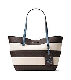 MICHAEL Michael Kors® Illustrations Stripe Canvas Large East West Tote