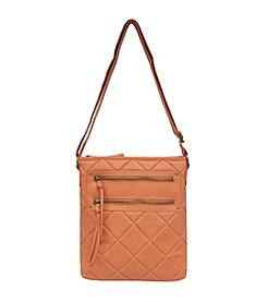 GAL Quilted Front 2 Zip Pocket Crossbody