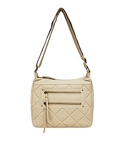 GAL Quilted Front 2 Zip Pocket Hobo Crossbody