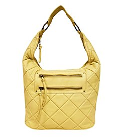 GAL Quilted Front 2 Zip Pocket Ring Hobo