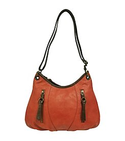 GAL Pebble Grained With Contrast Trim T/Z Hobo Crossbody