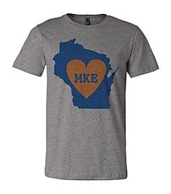 Brew City Brand Men's Wisconsin Heart Tee