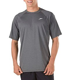 Speedo® Men's Heather Easy Swim Short Sleeve Tee