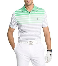 Izod® Men's Longleaf Engineered Strip Polo