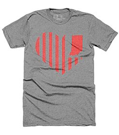 United State of Indiana Men's Heart Flag Tee