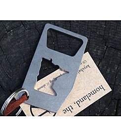 14Gauge Small Minnesota Bottle Opener Key Chain