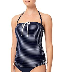 Tommy Hilfiger® Thin Stripe Side Cinched Bandini Top