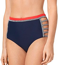 Tommy Hilfiger® Color Block Strappy Hi Waist Bottoms