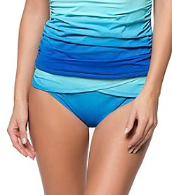 Bleu|Rod Beattie® Ombre Sarong Hipster Bottoms