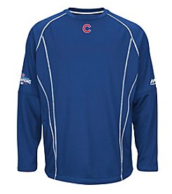 Majestic MLB® Chicago Cubs Men's Practice Pullover with Champions Patch
