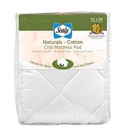 Sealy® Naturals Cotton Crib Mattress Pad